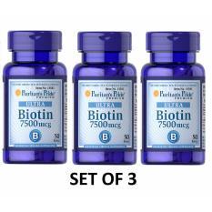 Puritan S Pride Biotin 7500mcg 50tablets For Hair Nail Care