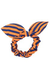 Rabbit Ears Stripes Hair Ring (Orange/Blue)
