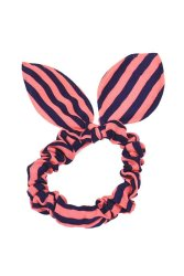 Rabbit Ears Stripes Hair Ring (Pnik/Blue)
