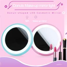Rechargeable make up class Donut-Shaped LED Cosmetic Mirror (pink) Philippines