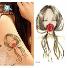 Red Rose Lips - TATTOO ART Temporary Tattoo 10x15 cm RC-030 Philippines