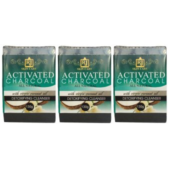 RJ Skin Care Activated Charcoal Soap 130g Set of 3