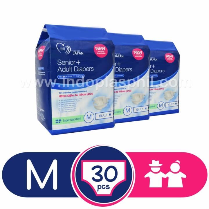 Senior+ Premium Quality Adult Diapers - Medium (Sold in 3 ...