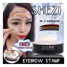 SHEZI EYEBROW STAMP Brow Stamp Powder Delicated Natural Perfect Enhancer Straight United Eyebrow