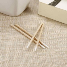 Short Wood Handle Small Pointed Tip Head 100Pcs Cotton Swab Eyebrow Tattoo Tool - intl Philippines