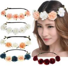 Summer Bohemian Handmade Flower Crown Flower Wedding Bridal Headband - intl 44eeee9e4049