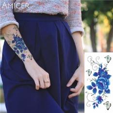 Tattoo Tbx 9011 Rose Artificial Flower Tattoo Sticker Flash Henna Waterproof Temporary Tattoo On Women Body