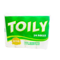 Toily 24 Rolls/ 300 Sheets 2 Ply Bathroom Tissue 1S 152412w33 Philippines