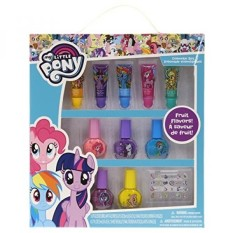 TownleyGirl My Little Pony Super Sparkly Cosmetic Set with lip gloss, nail polish and nail stickers - intl Philippines