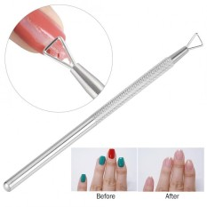 Triangle Head Nail Gel Polish Remover Pusher Stainless Steel Cuticle Dead Skin Remover Nail Art - intl Philippines