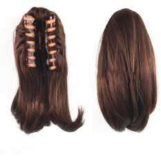 Type 3017 Stylish Wig Ponytail Extension 26cm Long Claw Clip on Layered Hair Piece for Halloween