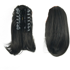 Type 4008 Stylish Wig Ponytail Extension 26cm Long Claw Clip on Layered Hair Piece for Halloween