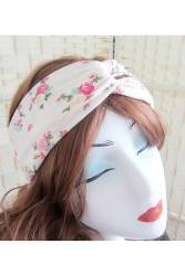 Velishy Women Headband Floral Wide Stretch 4
