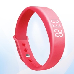 W5 Smart Wristband Bracelet 3D Pedometer Sleep Monitoring Red - intl
