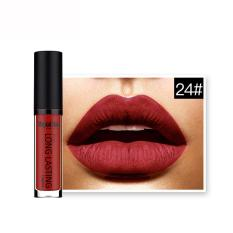 Waterproof Matte Liquid Lipstick Long Lasting Lip Gloss Lipstick 24# - intl Philippines