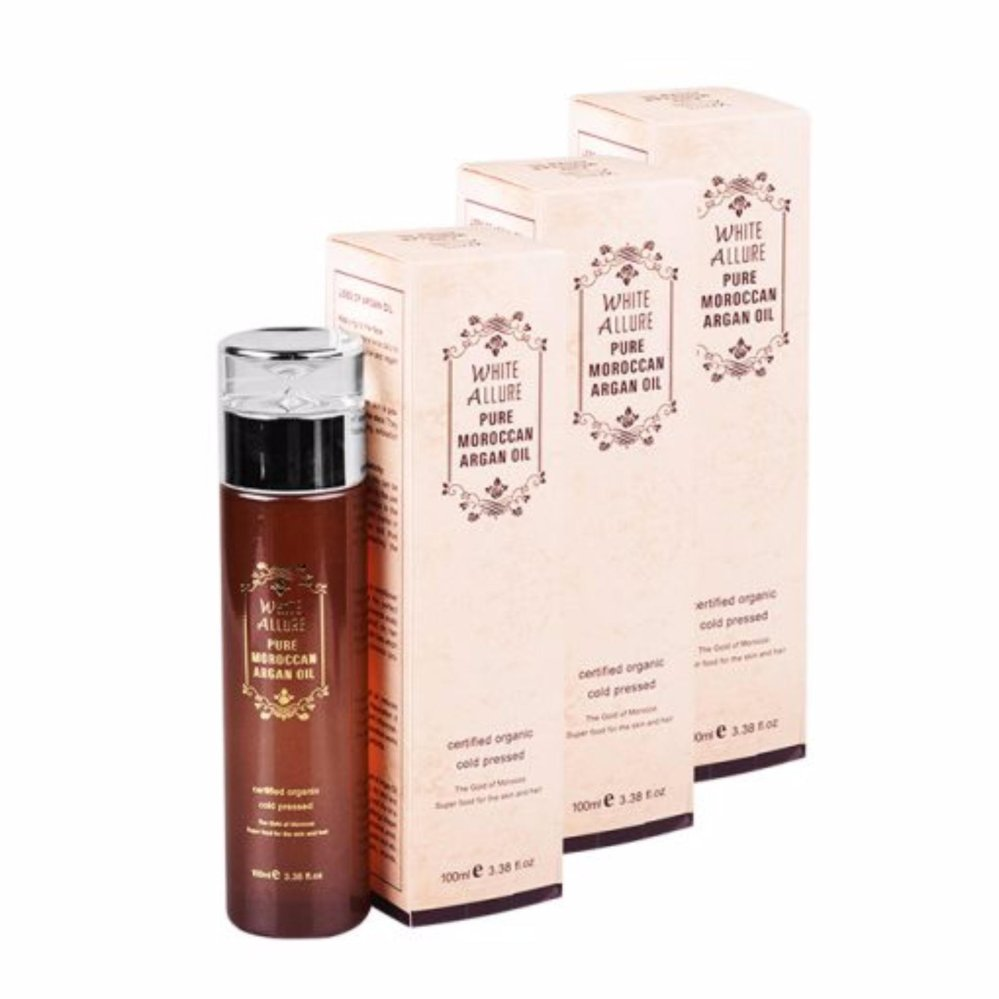 White Allure Pure Moroccan Argan Oil 100ml Pack of 3 product preview, discount at cheapest price