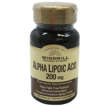 Windmill Alpha Lipoic Acid 200mg Capsules Bottle of 30