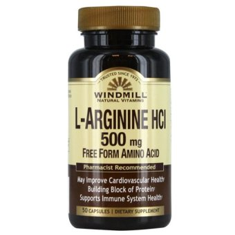 Windmill L-Arginine 500mg Capsules Bottle of 50