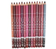 Womens Professional Lipliner Waterproof Lip Liner Pencil 15CM 12 Colors Per Set - intl Philippines