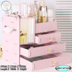 Wooden Cosmetic Make Up Jewelry Box Storage Organizer Large Size Pink Philippines
