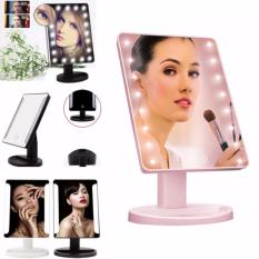 XR-1608 Make Up Vanity Illuminated Desktop Table Makeup Stand Large LED Mirror with 16 LED Light (Pink) Philippines