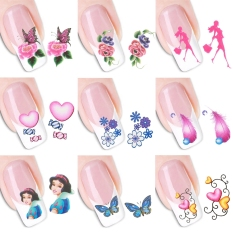 Yidabo 50 Sheets/set 3D Design Nail Art Tips Decoration Print Water Transfer Nail Stickers Manicure Decals - intl Philippines