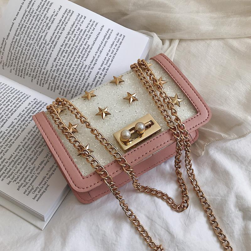 53d592608371 Summer Small bag bags women 2019 New Style Western Style XINGX Rivet Square  Sling bag bags