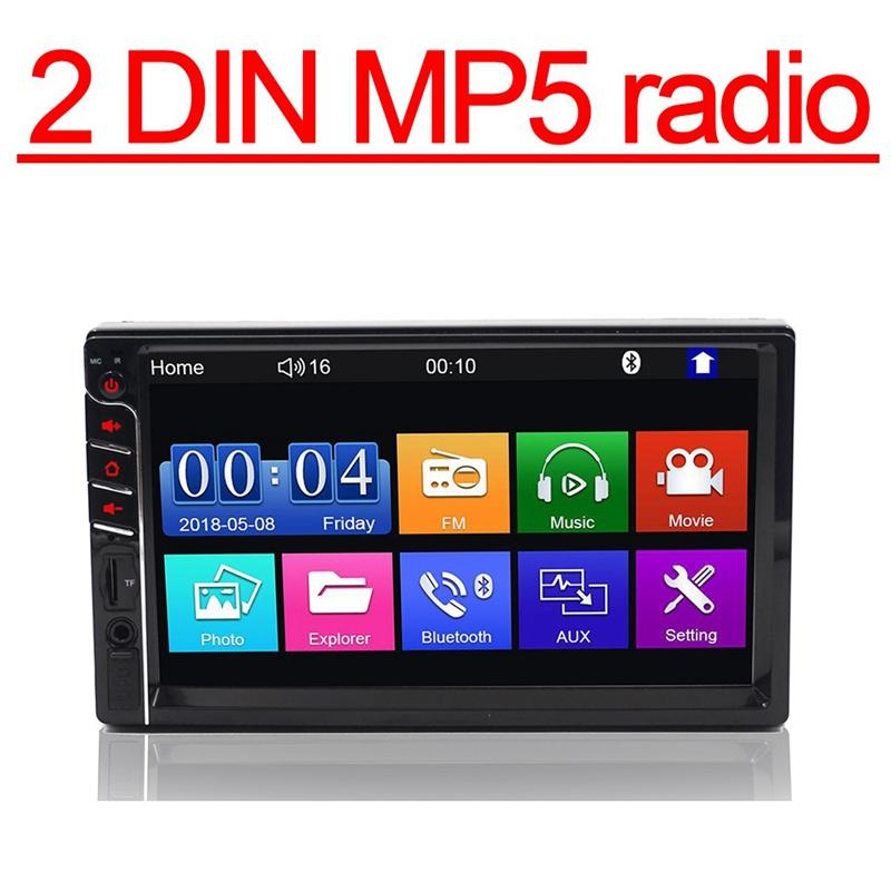 2 Din Car Multimedia Radio Hd 7Inch Press Contact Screen Stereo Bluetooth 12V 2Din Fm Iso Power Aux Input Auto Mp5 Player Sd Usb, 7033