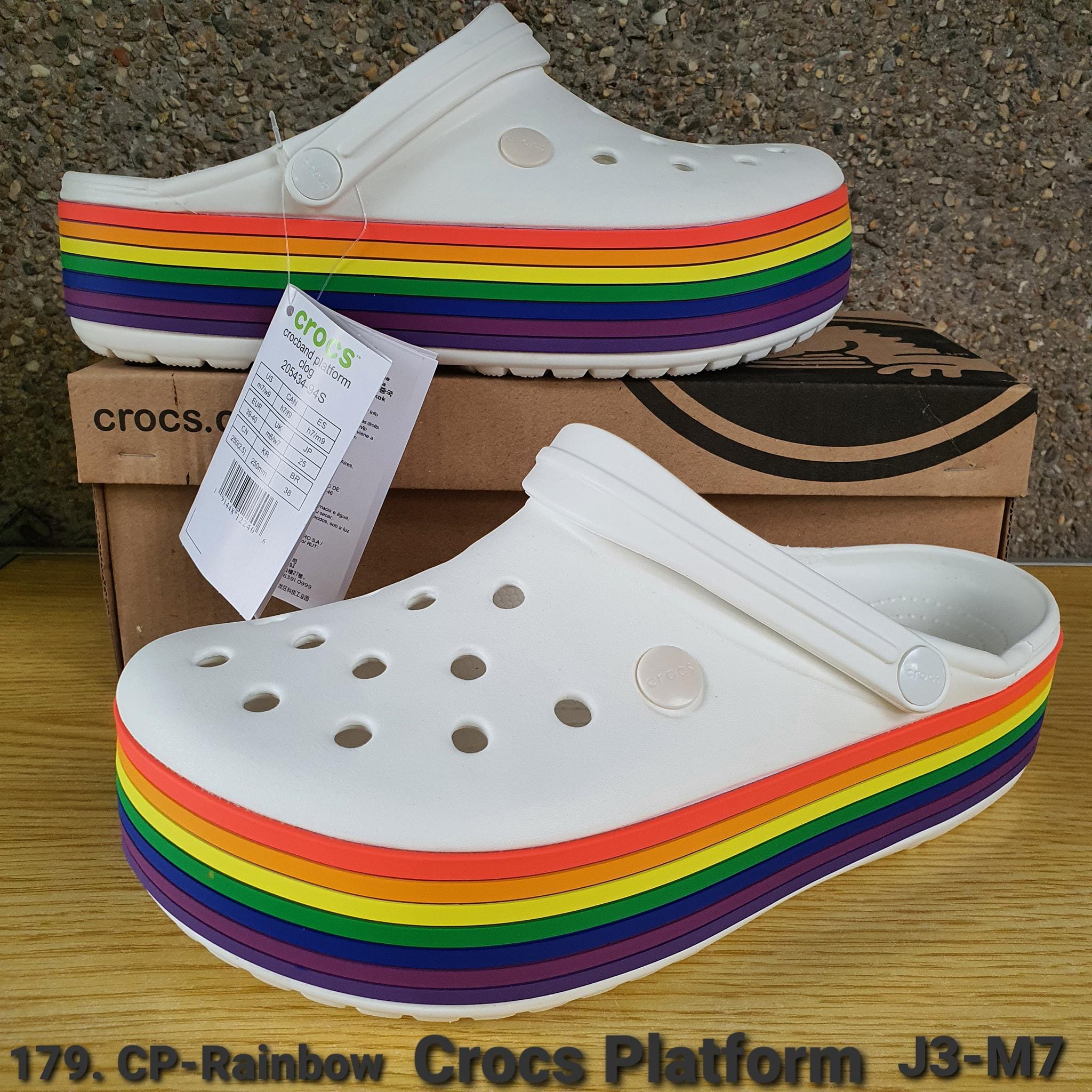 Crocs 179. CP-Rainbow Crocband Platform