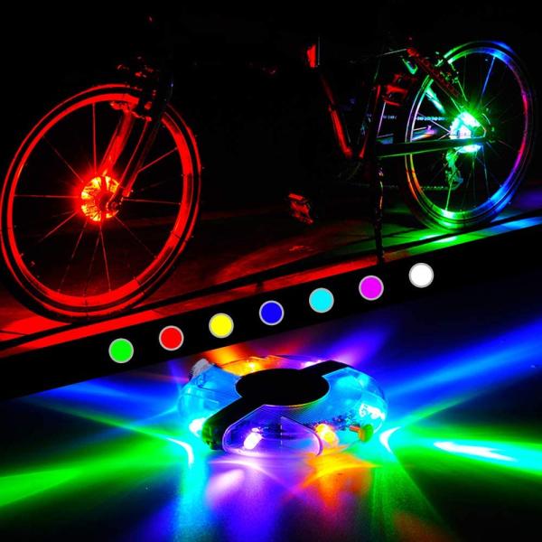 Mua SAVIA Đèn Xe Đạp IP65 Chống Nước Nhiều Màu Sắc Cho Trẻ Em Và Người Lớn Đèn Trung Tâm Bánh Xe Đạp Đêm Đèn Cảnh Báo Đèn Nan Hoa Đèn Trang Trí