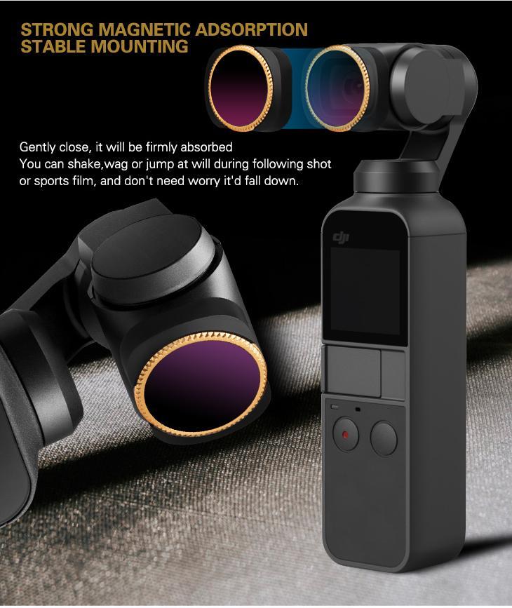 ND4-PL Adjustable MCUV CPL //ND4 8 16 32 64-PL //ND4 8 16 32 64 Lens Filter for DJI OSMO Pocket Gimbal Camera Filters