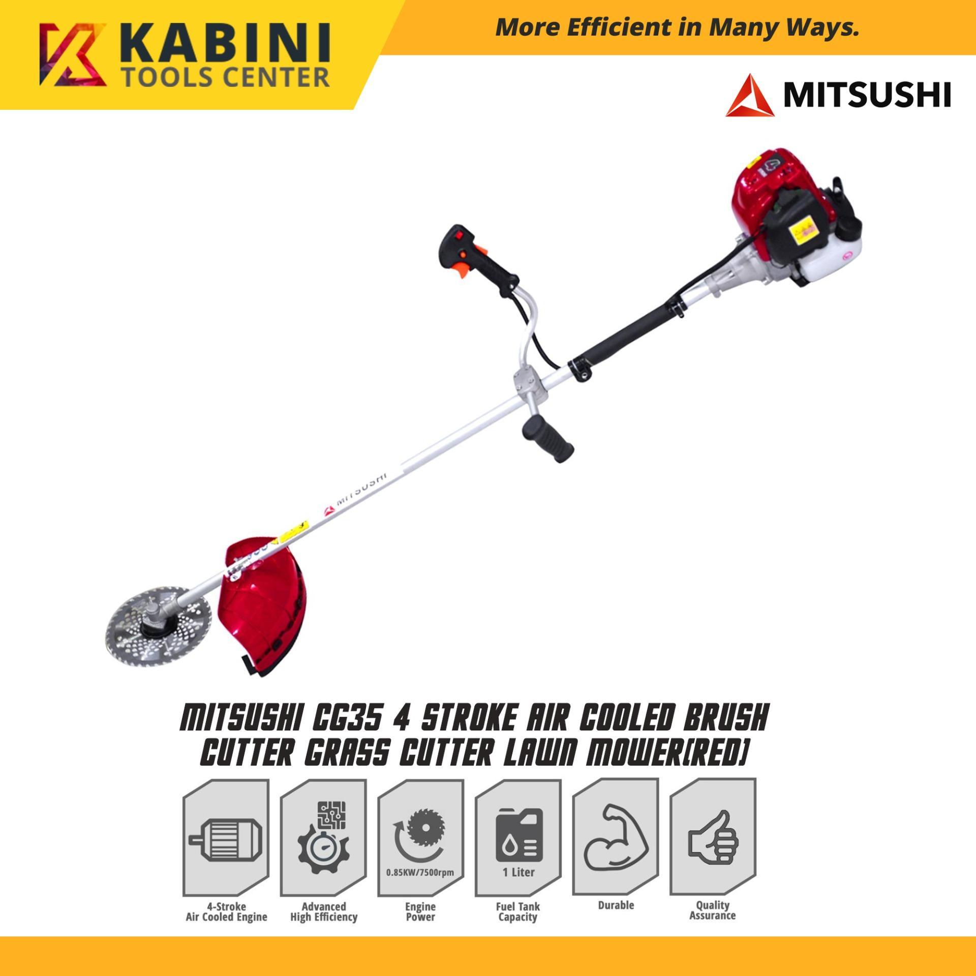 Mitsushi CG35 4 Stroke Air Cooled Brush Cutter Grass Cutter Lawn Mower
