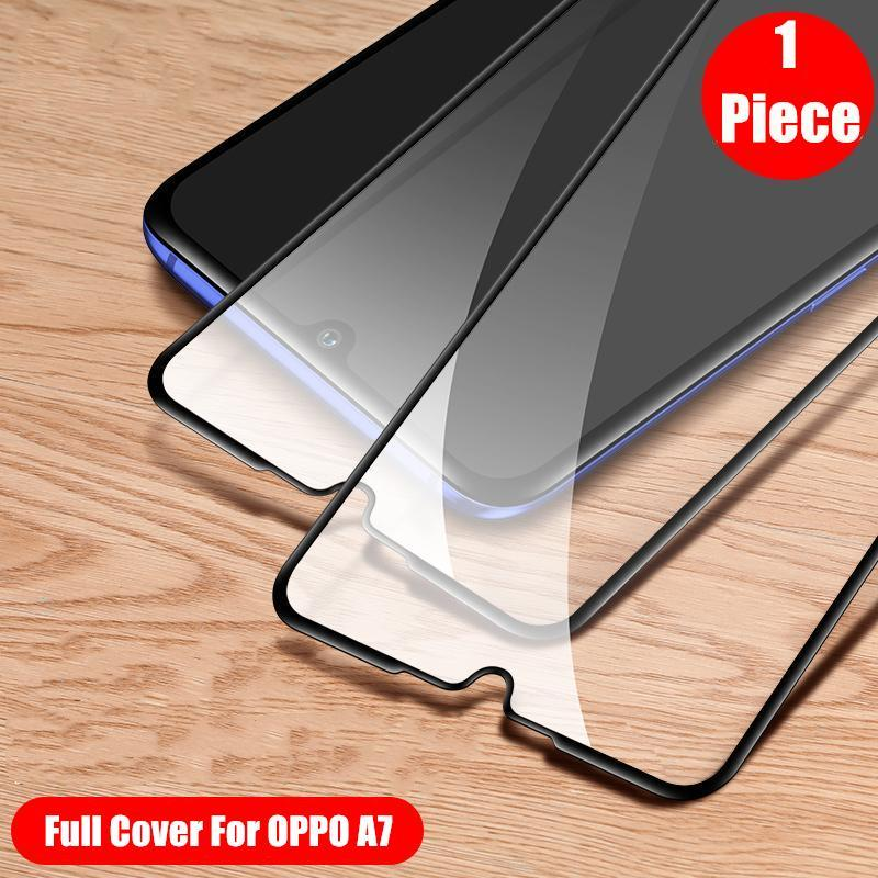 [1 Piece] Full Cover Tempered glass For OPPO A7 A5s Screen Protector  Protective Film of OPPO A5s