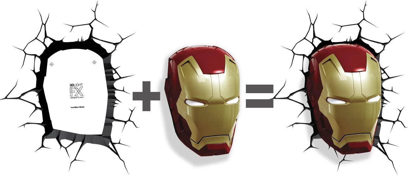 3d Lights Fx 3d Wall Lamp Marvei Avengers Iron Man Helmet Only Lazada Ph