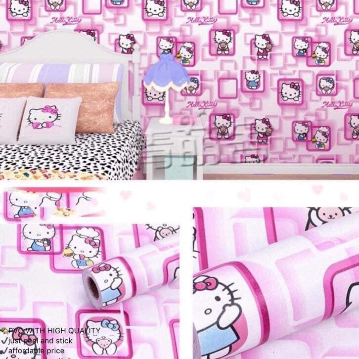 Kitty Wallpaper Wall Sticker