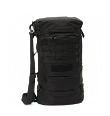 50l Tactical Military Trekking Backpack Rucksack Shoulder Bag For Camping Hiking (black) By Happy Choice.