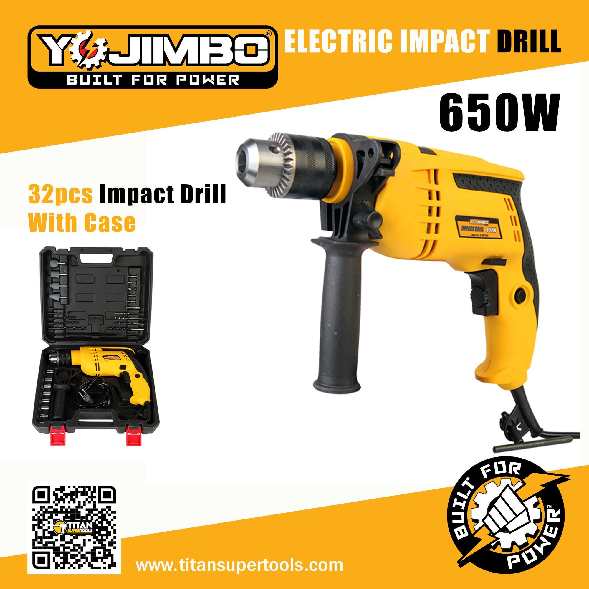 Yojimbo 13 mm Impact Drill Set with 32pcs Tool Kit Set (Black)