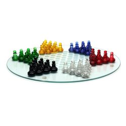 511055 Chinese Checkers Glass (Multicolor)