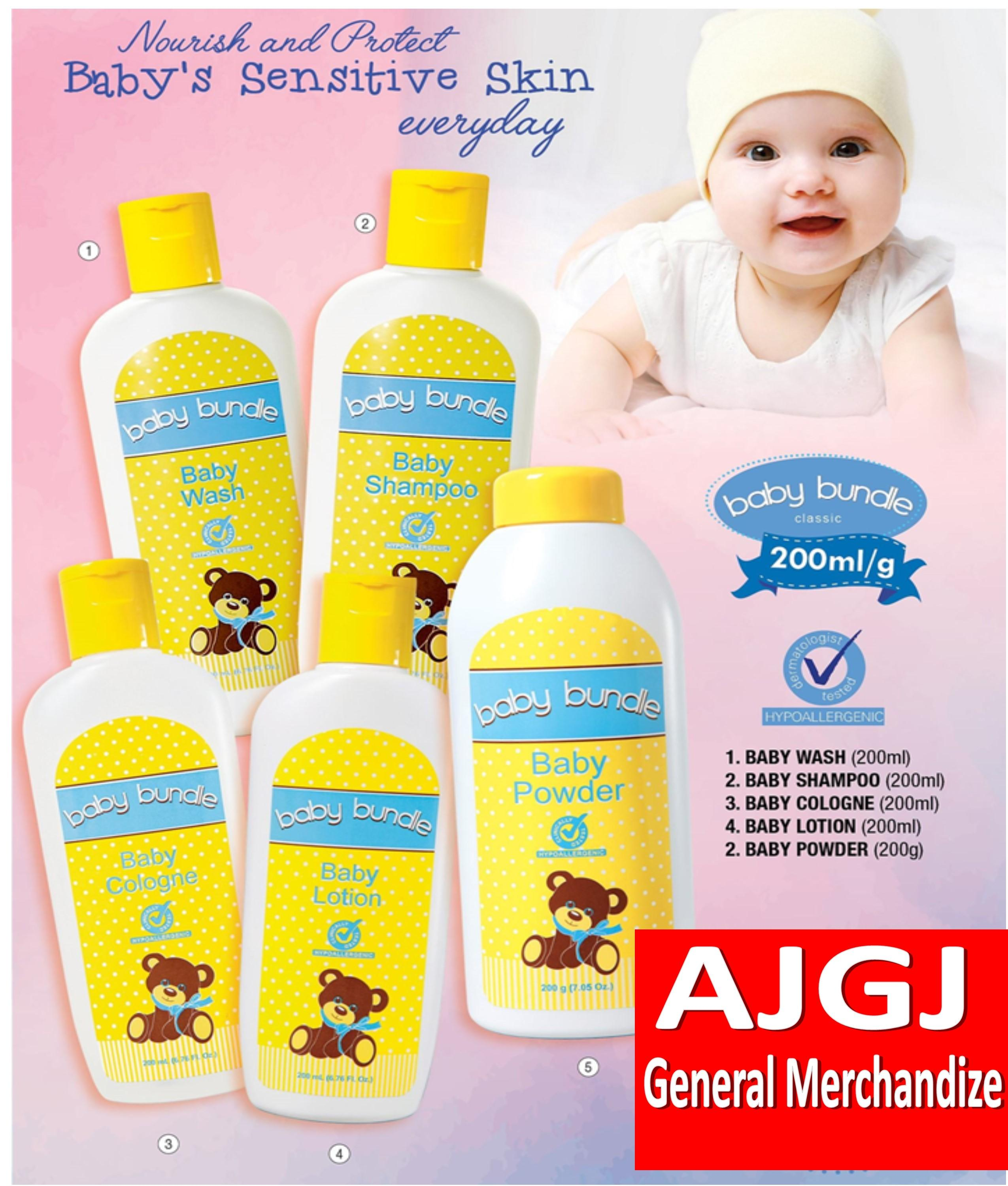 Baby Bundle Classic Comes With 200 Ml Baby Wash, Lotion, Shampoo, Cologne And Powder By Ajgj Gen Mdse.