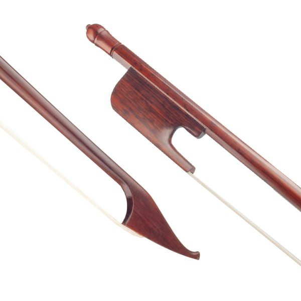 4/4 Snakewood Bow Violin Bow Baroque Style Exquisite Round Stick White Mongolia Horsehair Bow Handmade Bow Malaysia