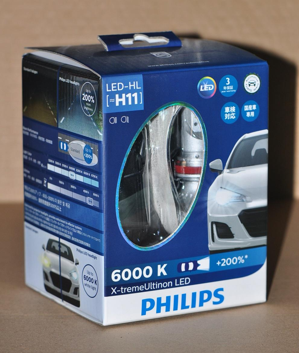 Philips X-treme Ultinon 6000K H11 headlight LED