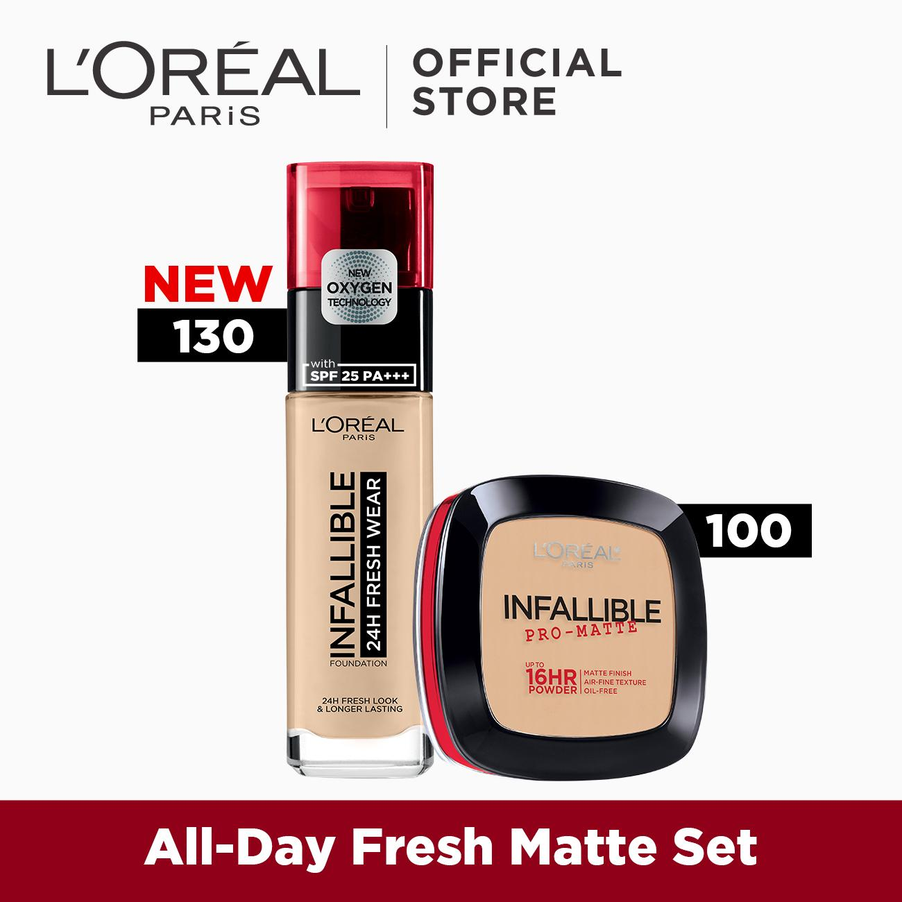All-Day Fresh Matte Set: Infallible 24HR Fresh Wear Foundation + Infallible Pro-