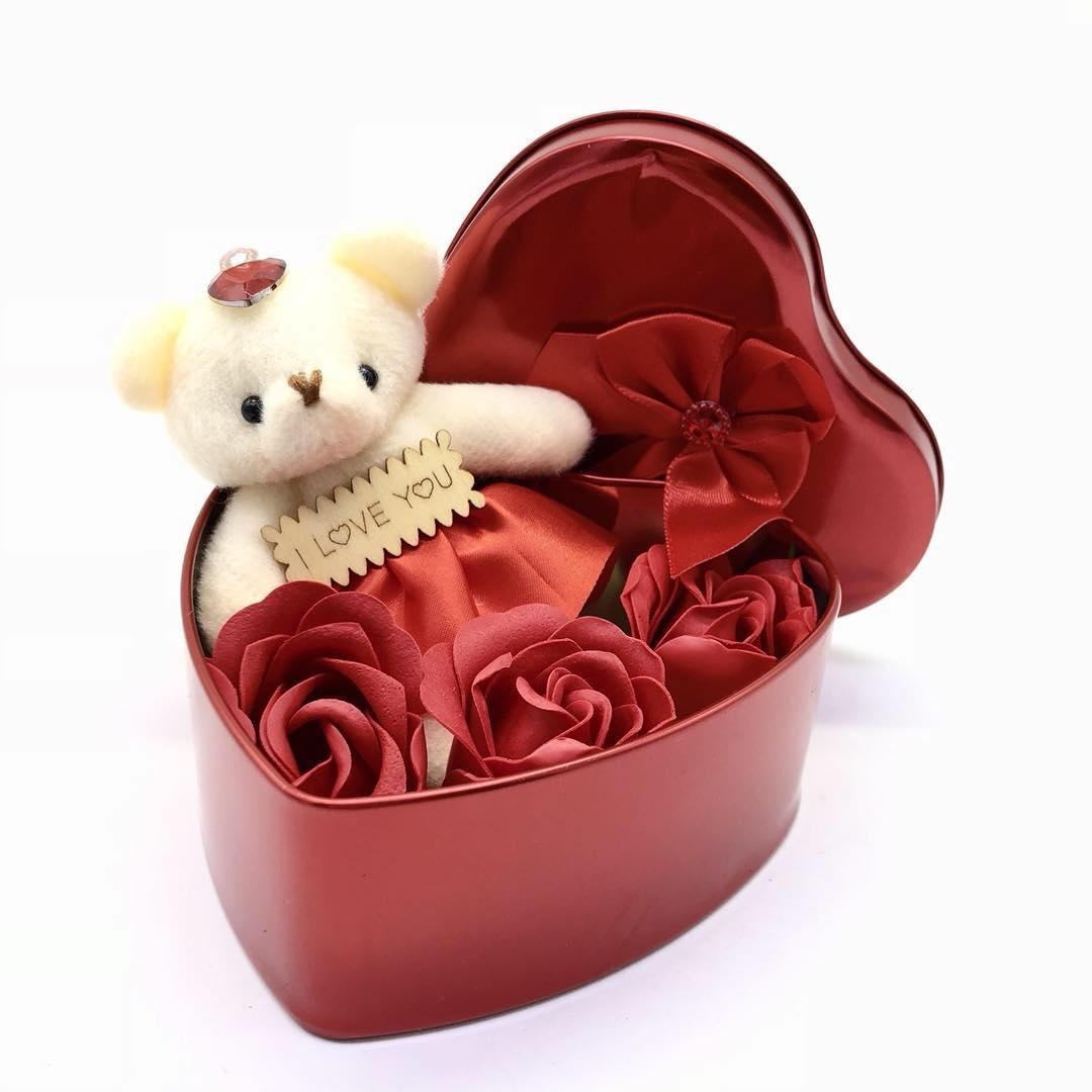 Bear With Rose Valentines Souvenir Mg017 By W&g.