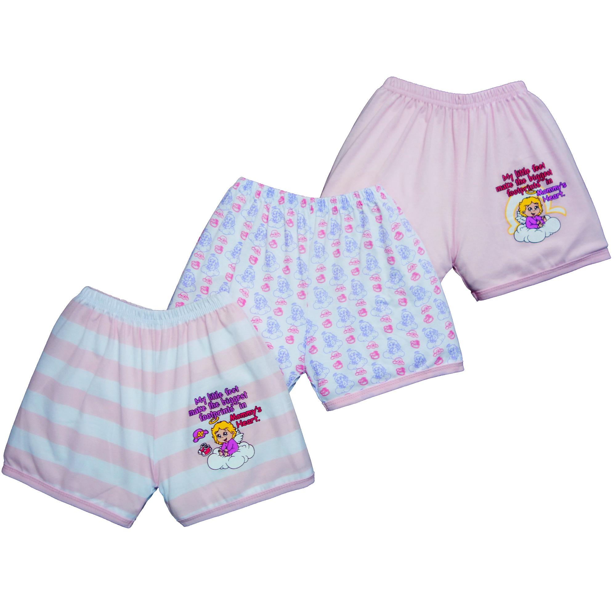 b6ced6f731a3 Froshie 3-piece Baby Cotton Shorts (My little feet make the biggest  footprints in