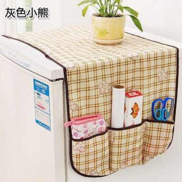 Refrigerator Cover Anti Dust Creative Container Storage Home Bag Organizers Neutral - Intl By Cag Shop.