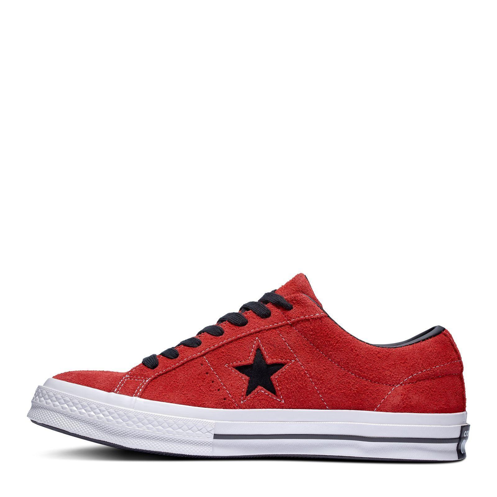 CONVERSE ONE STAR DARK STAR VINTAGE SUEDE ENAMEL REDBLACKWHITE 812819 163246C
