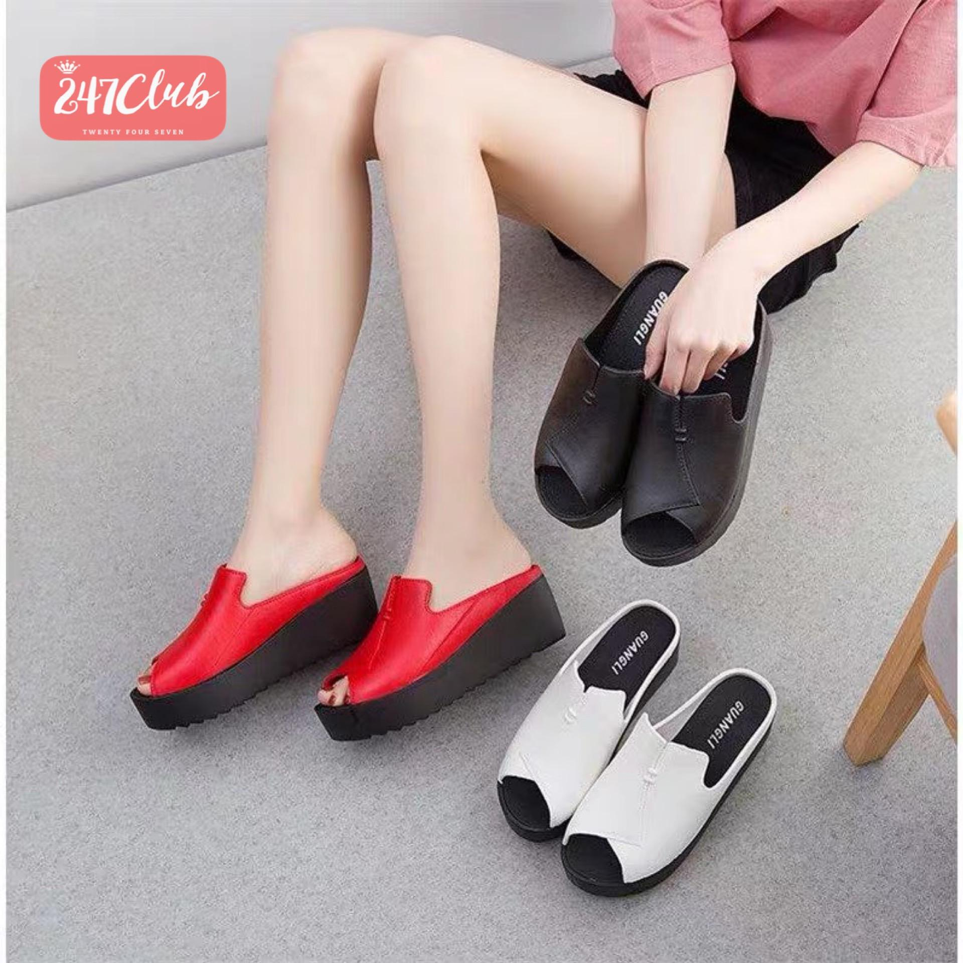 f66b1dec82d924 247 828 BIG SALE Best Seller Wedge Open Toe Flip Flops Adjust One Size
