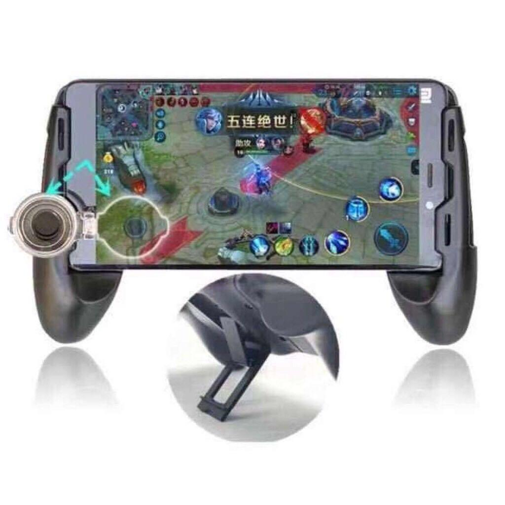 [superstorm] 3in1 Portable Gamepad With Joystick Phone Holder Game Pad Game Handle For Ros Mobile Legends By Superstorm