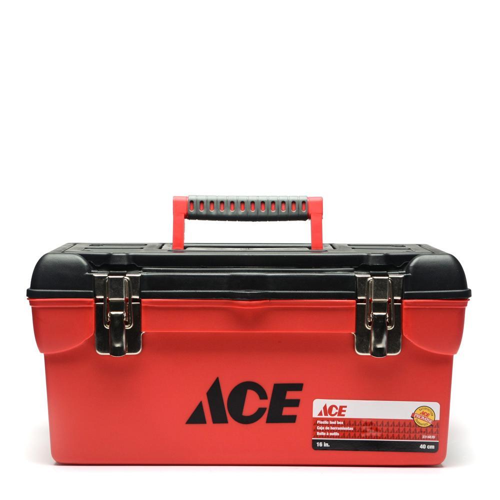 Ace Hardware Plastic Tool Box 16in