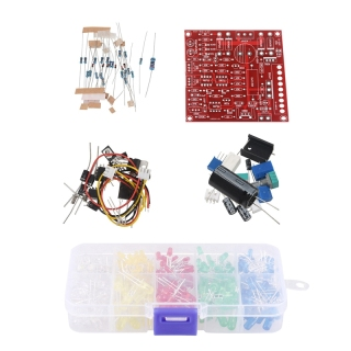 300pc 3mm 5mm Assorted Color LED Light Emitting Diode & 1set Red 0-30V 2mA-3A Continuously Adjustable DC Regulated Power thumbnail